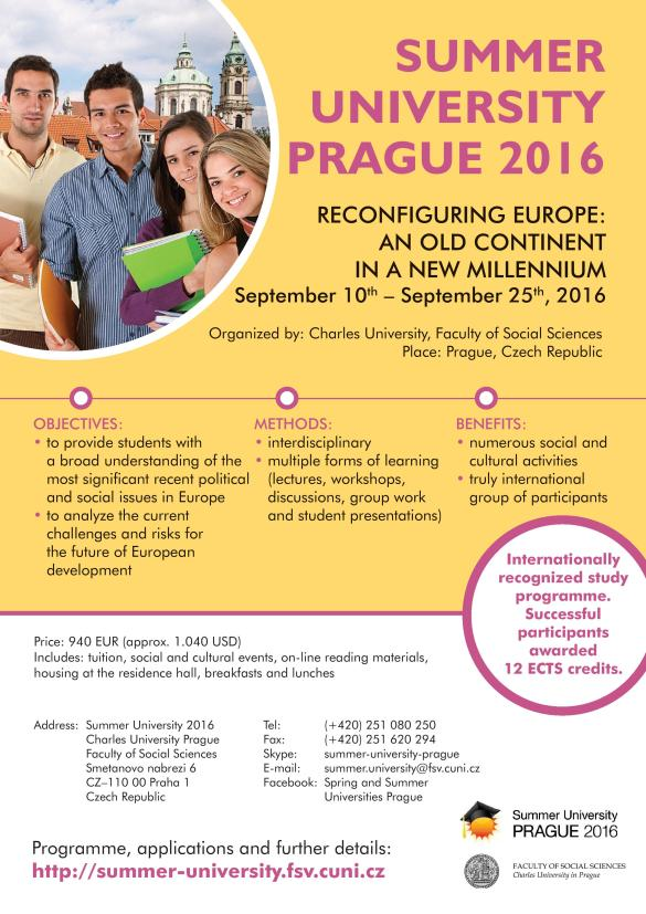 Charles University in Prague - Summer University 2016-page-001