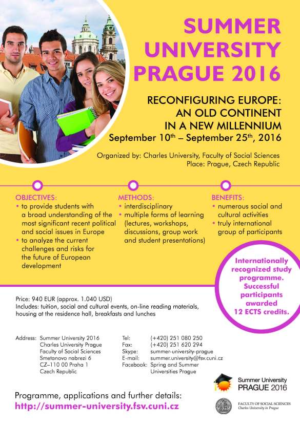 Charles University in Prague - Summer University 2016 (1)