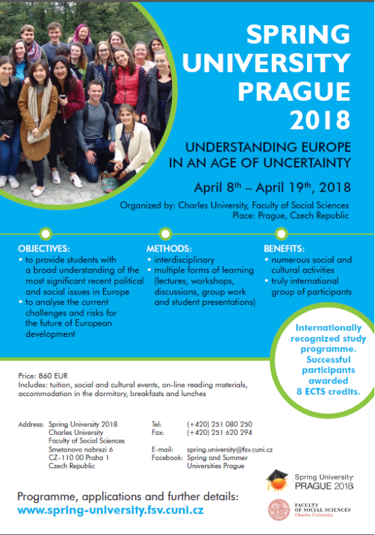 university prague info sheet