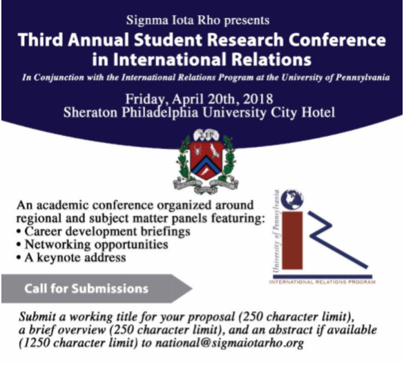 Submit a Paper for the 3rd Annual Student Research